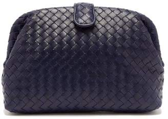 Bottega Veneta The Lauren 1980 Leather Clutch - Womens - Navy