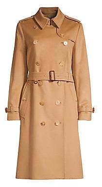 Burberry Women's Kensington Cashmere Trench Coat
