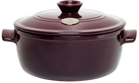 Emile Henry Flame Top Round Dutch Oven/Stew Pot, 7 quart