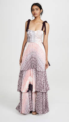 Silvia Tcherassi Tiered Dress With Tie Straps