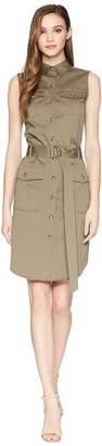 Lauren Ralph Lauren Stretch Cotton Twill Utility Dress Women's Dress