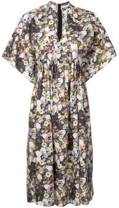 ADAM by Adam Lippes floral print midi dress