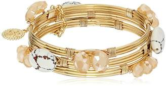 Jessica Simpson Set of 3 Stone Wrapped Bangle Bracelet