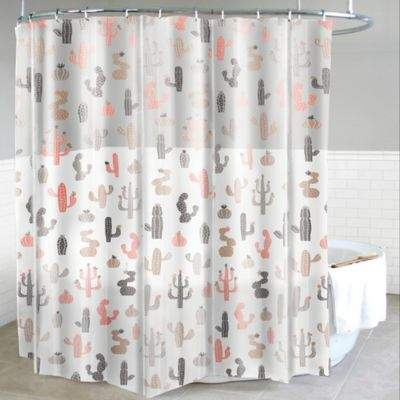Mojave PEVA Shower Curtain in Blush