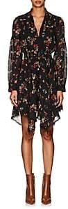 Derek Lam 10 Crosby Women's Floral Silk Georgette Handkerchief-Hem Dress - Black