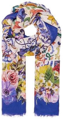 Dolce & Gabbana Majolica Peony Scarf