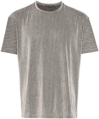 Issey Miyake tucked stripe t-shirt