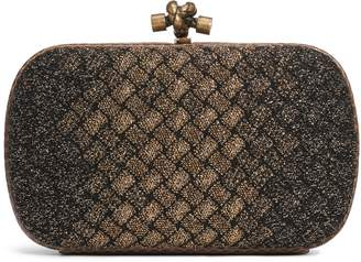 Bottega Veneta Intrecciato Knit & Genuine Snakeskin Knot Clutch