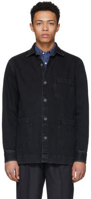 Schnaydermans Black Denim One Overshirt Jacket