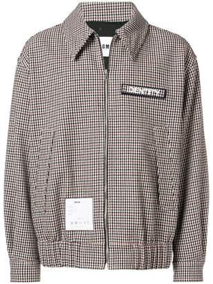MSGM houndstooth zipped jacket