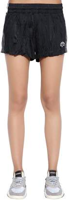 adidas By Alexander Wang Aw Wrinkled Logo Jacquard Track Shorts