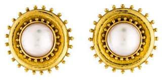 Elizabeth Locke 18K Mabé Pearl Clip-On Earrings