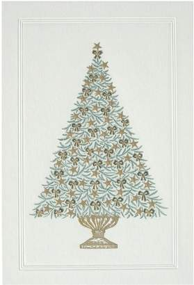 Original Crown Mill Ribbon and Star Tree Christmas Cards (Box of 6)
