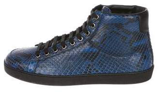 Gucci Python High-Top Sneakers w/ Tags