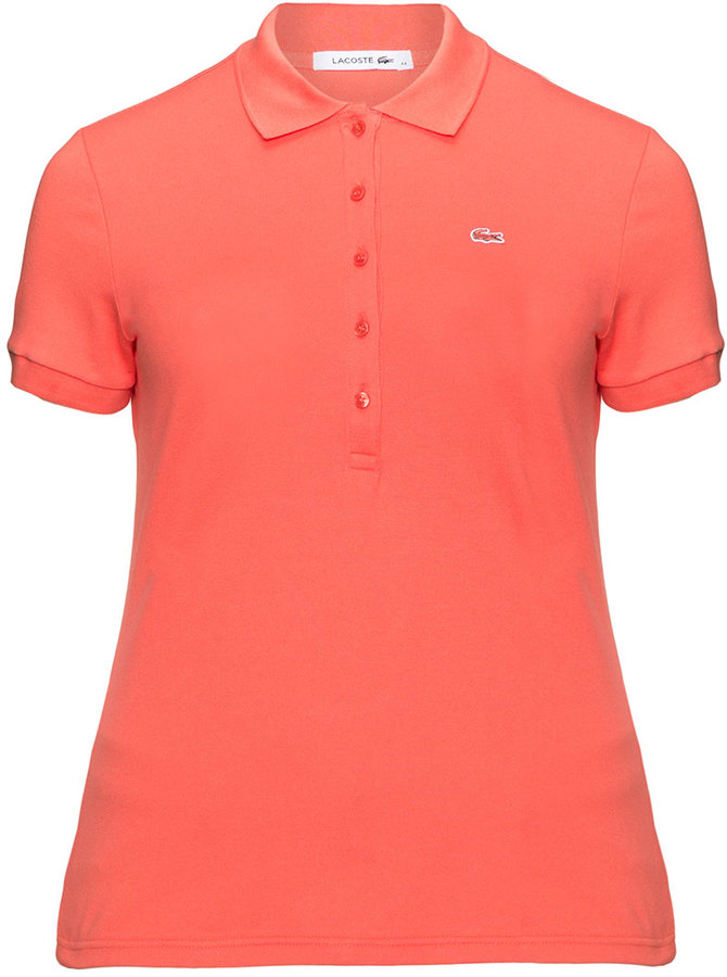 Lacoste Plus Size Cotton Polo Shirt Women