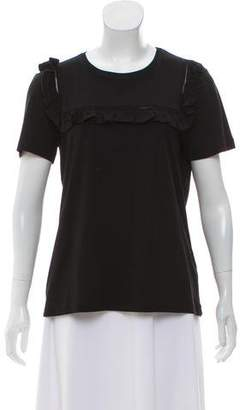 Manoush Ruffle-Accented Short Sleeve T-Shirt