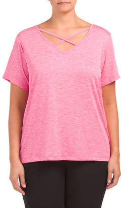 Plus Active Top With Strappy Detail