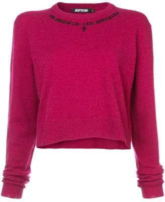 Adaptation crew neck cropped jumper