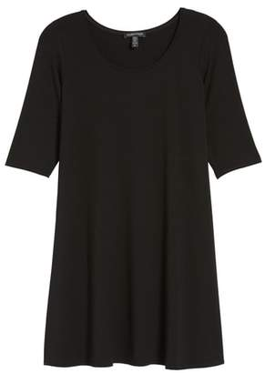 Eileen Fisher Scoop Neck Jersey Tunic