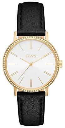 Chaps Women's 'Whitney' Quartz Stainless Steel and Leather Casual Watch