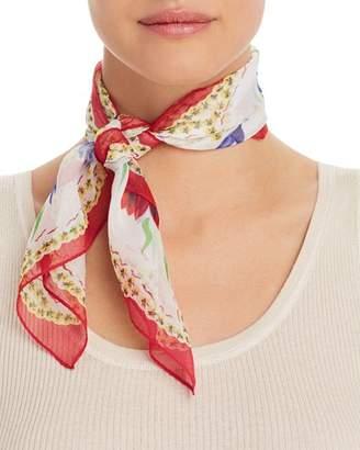 Echo Floral-Print Silk Scarf