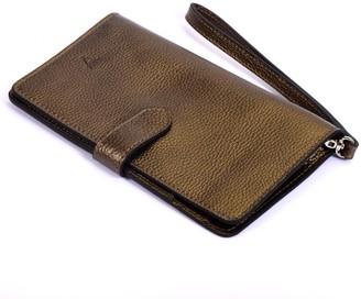 Atelier Hiva Ita Leather Wallet Metallic Brown
