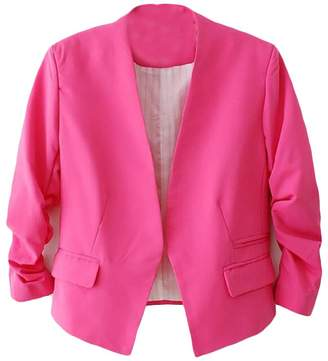 SBABY-Women Casual Puff Sleeve Blazer Jacket Long Sleeve Suit Outwear XL