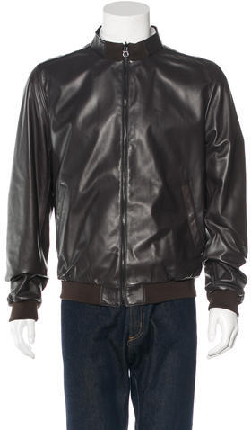 BrioniBrioni Leather Car Coat