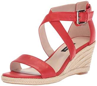 Nine West Women's JORGAPEACH Leather Wedge Sandal