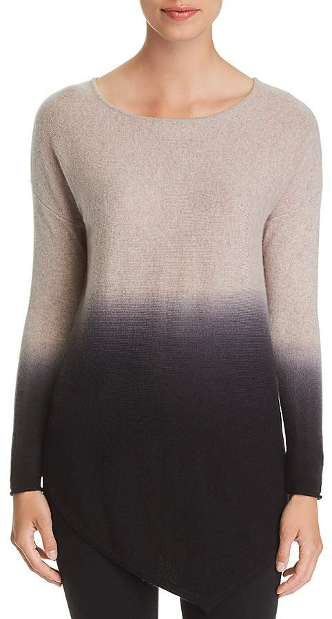 C by Bloomingdale's Asymmetric Dip-Dye Cashmere Sweater