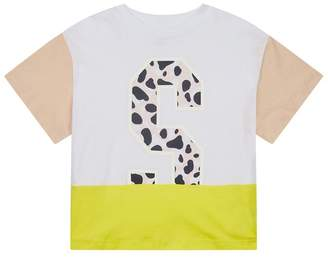 Stella McCartney Colour Block Letter T-Shirt