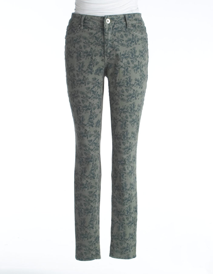 DKNY Womens Plus-Size Floral Print Skinny Jeans