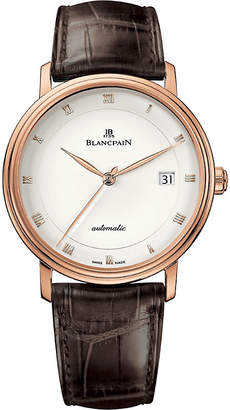 Rosegold BLANCPAIN 6223364255 18ct rose-gold and alligator-leather watch