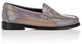 Re/Done + Weejuns Women's Whitney Holographic Leather Penny Loafers