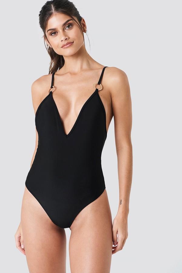 J&K Swim X Deep Neck Swimsuit