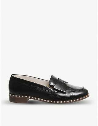 Office Present Bow leather loafers