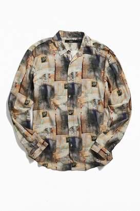 Loom Printed Button-Down Shirt