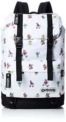 Outdoor Products (アウトドア プロダクツ) - [アウトドアプロダクツ] DISNEY × OUTDOOR ディズニーレトロ柄フラップリュック ODDN1274WH ホワイト