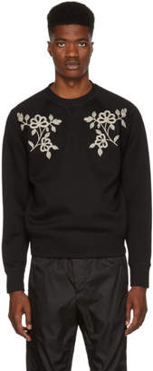 DSQUARED2 Black Embroidered Sweatshirt