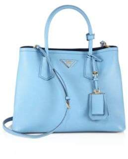 Prada Large Leather Double Tote