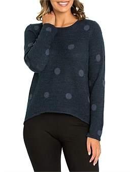 Marc O'Polo Marco Polo Long Sleeve Cropped Spot Sweater