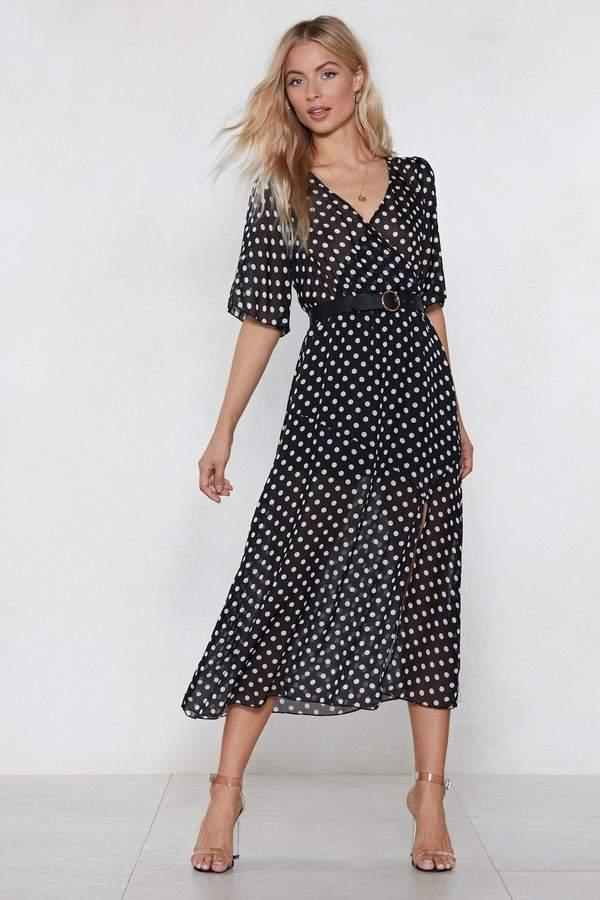 nastygal Hit the Spot Polka Dot Dress