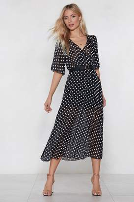 Nasty Gal Hit the Spot Polka Dot Dress