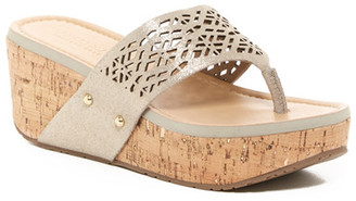 Kenneth Cole Reaction Fan-Tastic Wedge Sandal $69 thestylecure.com