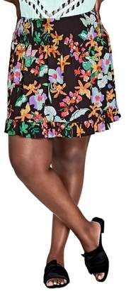 City Chic Molokai Floral Skirt