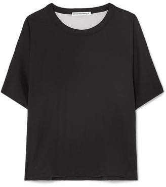 Alexander Wang Reversible Cotton-jersey T-shirt - Black