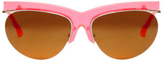 Dries Van Noten Pink Linda Farrow Edition Cat-Eye Sunglasses
