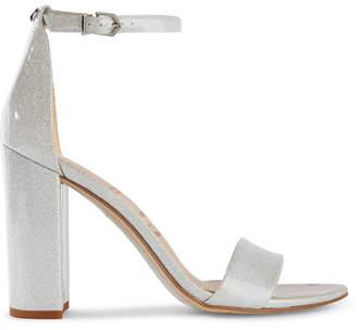 Sam Edelman Glittered Vinyl Sandals - Silver
