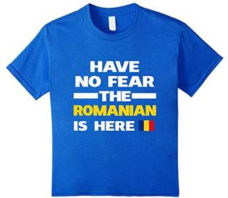 No Fear Romanian Is Here Romania Pride Funny Flag T-Shirt