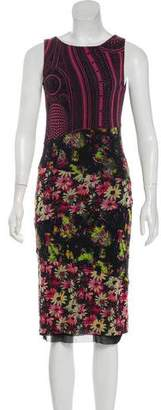 Jean Paul Gaultier Soleil Sleeveless Printed Midi Dress